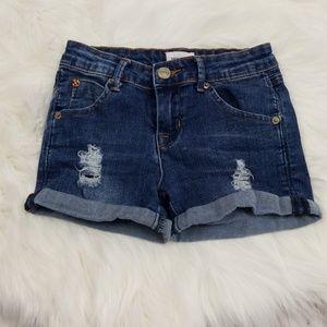 Hudson distressed jean shorts size 10